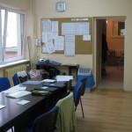 Wnętrze pokoju nauczycielskiego